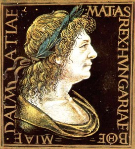 Mátyás király babérkoszorús portréja